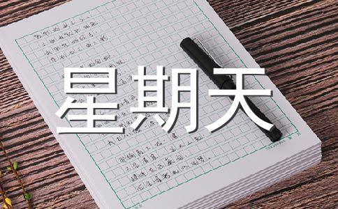 【热】星期天作文集锦12篇