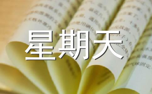 【荐】星期天作文集锦13篇