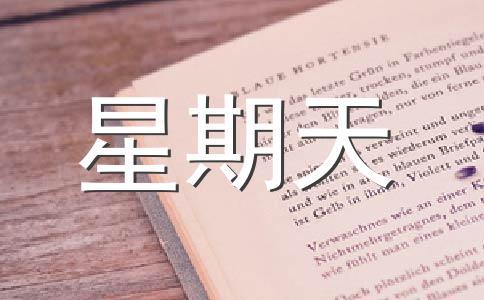 【热门】星期天作文汇编5篇