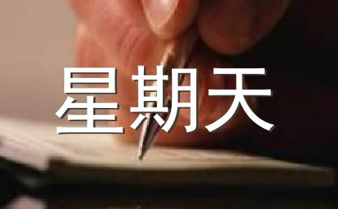 【精品】星期天作文汇编7篇